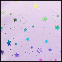 Foil Stars Lavender