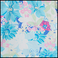Turquoise Blue Floral