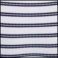 White/Navy Stripe
