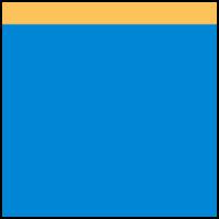 Blue Bolt/Saffron