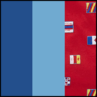 Riviera/Blue/Flags