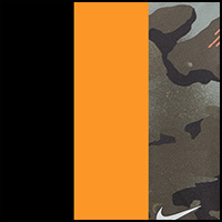 Khaki/Orange/Black