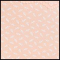 Peach Sun Leaf Print