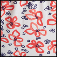 Red/Navy Floral Print