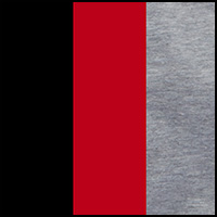 heather grey/red/black