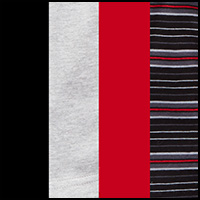 Black/Gray/Red/Stripe