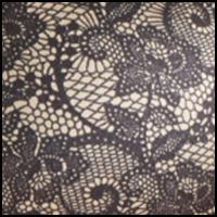 Black/Nude Lace Print