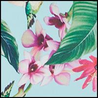 Aqua/Floral
