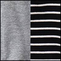 Black Stripe/Heather