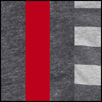 Charcoal/Stripe/Red
