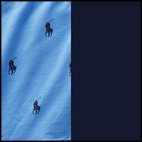 island blue pony/navy