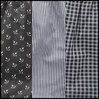 Black/stripe/plaid