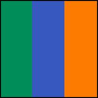 Royal/Orange/Billiard