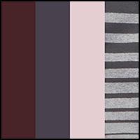 Jacquard/Stripe/Fig/Bk