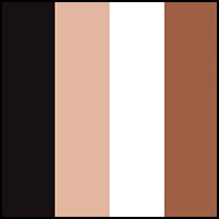 Rose/White/Brownie/Blk