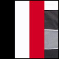 White/Crimson/Black