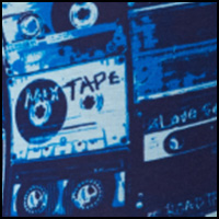 Blue Mixed Tape