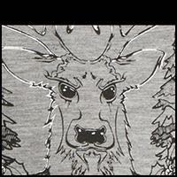 Grey Bad Ass Deer