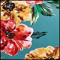 Turq Floral