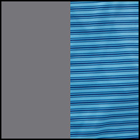 Aqua Stripe/Grey