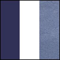 White/Navy/Stripe