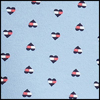 Chambray Flag Hearts