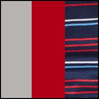 Grey/Red/Stripe