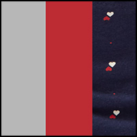 Grey/Red/Hearts