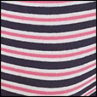 Stripe Navy/Pink Glow