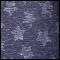 Navy Heathered Stars